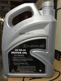 lexus my warranty has anyone ever tried the lexus motor oil