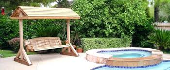 ideas wooden patio swing and wooden modern outdoor patio swing