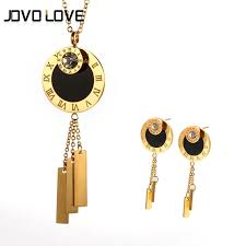 wedding gift jewellery jovo luxury gold color jewelry set women wedding gift simple