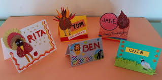make thanksgiving place cards belfast waldo republican journal