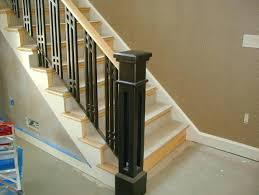 Metal Stair Banister Iron Stair Railing Indoor Oak Stair Railings Interior Metal Stair