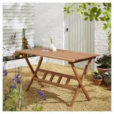 Folding Wooden Garden Table Buy Kingsbury Rectangular Folding Garden Dining Table From Our