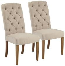linen dining room chairs amazon com lydia natural linen armless accent chair set of 2