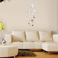 direct selling home decor new arrival hot flowers acrylic mirror wall sticker stickers modern