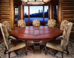 Round Dining Room Tables Seats 8 by Full Size Of Dining Expandable Round Walnut Dining Table Large