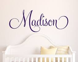 personalized name name wall decal etsy