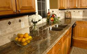 Crema Bordeaux Granite And Backsplash Kitchen Inspiration - Kitchen granite and backsplash ideas