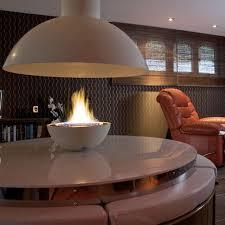 gas fireplace contemporary open hearth central circular