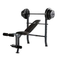 marcy diamond elite md 2082w standard bench w 100lb weight set