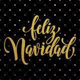 feliz navidad vrolijke kerstmis spaanse tekst vector illustratie