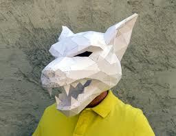 werewolf halloween costume ideas make your pumpkin mask papercraft pumpkin mask by plainpapyrus