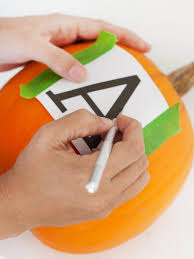 how to make a monogrammed pumpkin hgtv