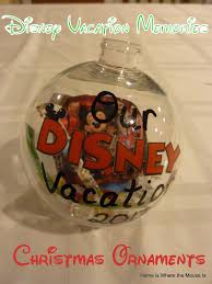 disney vacation memories christmas ornaments adventures in