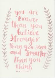 quotes about strength winnie the pooh a a milne quote original watercolor painting watercolour quote