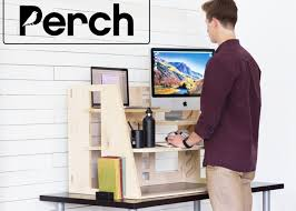 perch sit to stand desk launches on kickstarter