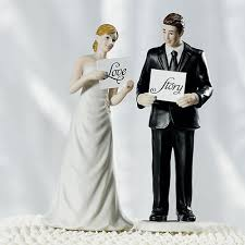 and groom figurines read my sign and groom figurines the knot shop
