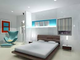 simple bedroom interior design with calming paint colors in white