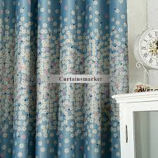 White Curtains With Blue Pattern Navy Blue And White Curtains Improve Atmosphere In Your Room