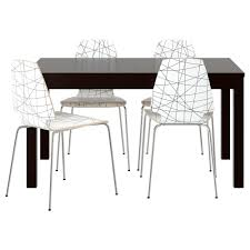 Ikea Dining Room Sets Vilmar Bjursta Table And 4 Chairs Brown Black Striped Black 140 Cm