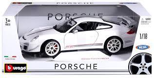porsche gt3 grey amazon com bburago 1 18 scale porsche 911 gt3 rs 4 0 diecast