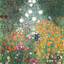 flower garden 1905 1907 gustav klimt wikiart org