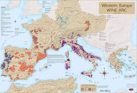 Wine Map Of France by Western Europe Wine Arc