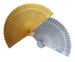 sandalwood fan wfan1008 painted sandalwood fans gold silver as low as rm4 50