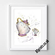 beauty beast watercolour art print u2013 atprints
