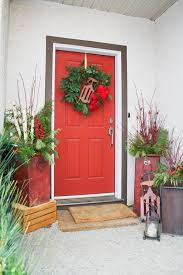 Front Door Planters by Urn Planters In Entry Traditional With Flower Pots Next To Red