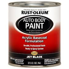 rust oleum automotive enamel jet black 1 qt walmart com