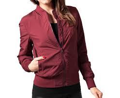 light bomber jacket womens urban classics womens light bomber jacket burgundy boardvillage