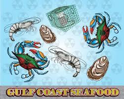 gulf logo vector louisiana vector clipart gulf coast clipart blue crab digital