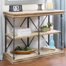 Wood Shelf Making by Sonoma Two Tier Console Table Reclaimed Wood Shelves Wood Shelf