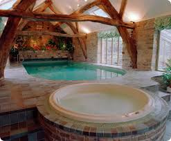 traditional home plans with beautiful indoor swimming pool and