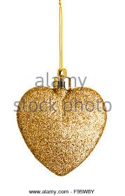 a single sparkling gold glitter bauble hanging on gilt