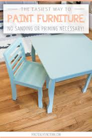 How To Paint A Table by The Easiest Way To Paint Furniture No Sanding Or Priming