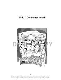 grade 10 health learning material unit 1 consumer health