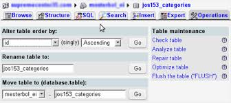 Change Table Name In Mysql Phpmyadmin A Mysql Database Administration Tool