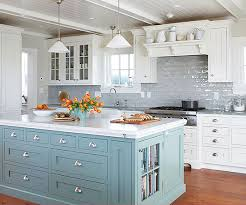 green kitchen cabinets with white island 15 gorgeous white kitchens with coloured islands the happy
