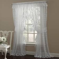 Priscilla Curtains With Attached Valance Curtains Crossover Priscilla Lace Curtains And Valances Ruffles