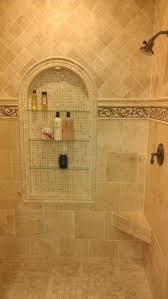 best 25 travertine bathroom ideas on pinterest shower benches traditional travertine shower with travrtine mosaic pictue framed niche