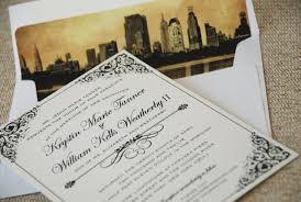 filigree wedding invitation new york city