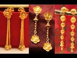 gold dangle earrings indian designs