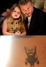 tato kartun minion tato baru david beckham bergambar minion