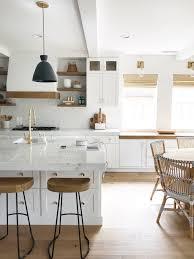 mixing kitchen cabinet wood colors design trend 2018 mixed wood tones becki owens