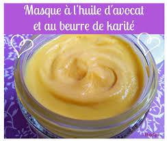 beurre de cuisine cheveux masque capillaire à l huile d avocat et au beurre de karité