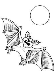 coloring page of a bat bat coloring pages