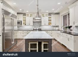 kitchen interior new luxury home stock photo 243653452 shutterstock kitchen interior in new luxury home