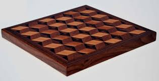 3d parquetry end grain butcher block cutting board