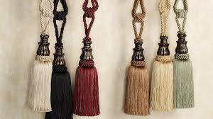 accessorize curtains with 15 and tassel tiebacks home